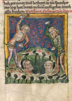 Legenda sanctorum aurea, verdeutscht in elsässischer Mundart - Jacobus de Voragine BSB Cgm 6, [S.l.], Alsasko/Alsace 1362