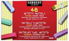 Sargent Art 22-4148 Colored Square Chalk Pastels, 48 Count #deals