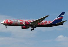 """Aeroflot Russian Airlines Boeing 767-306/ER in the """"Olympics"""" livery"""
