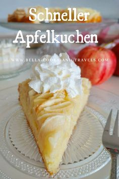 Apple Recipes, Sweet Recipes, Baking Recipes, Cake Recipes, Dessert Recipes, Sweets Cake, Cookie Desserts, German Desserts, Mary Recipe