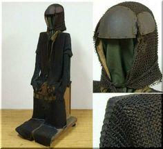 Antique samurai kusari gusoku (suit of chain armor).