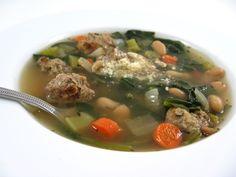 Skinny Italian Wedding Soup with Weight Watchers Points | Skinny Kitchen