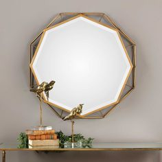 Form Of Hand Mirror Decorative Arts Mirrors Mcm 1950's Hollywood Regency Cast Aluminum Wall Mirror