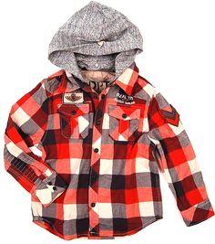 Boys lumberjack shirt jacket  by Scotch Shrunk.