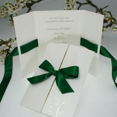 Verona Hunter Green Wedding Invitations