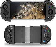 KINVOCA Manette de jeu mobile manette de téléphone Bluetooth pour Android/iPhone (pas pour le nouveau système iOS 13.4 ou plus) manette mobile sans fil PUBG Joystick Gamepad pour jeux MOBA et FPS