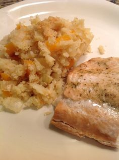 Baked Salmon and Cauliflower Cous Cous - Fit Paleo Mom