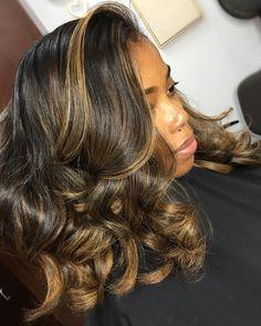 New Hair Color Black Highlights Curls Ideas Weave Hairstyles, Pretty Hairstyles, Girl Hairstyles, Love Hair, Gorgeous Hair, Curly Hair Styles, Natural Hair Styles, Colored Natural Hair, Highlights On Natural Hair