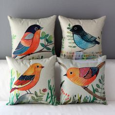 Find great deals for Animals Birds Style Throw Soft Pillow Case Car Home Decor Cushion Cover 43 cm . Cushion Cover Designs, Cushion Covers, Pillow Covers, Soft Pillows, Diy Pillows, Throw Pillows, Fabric Painting, Fabric Art, Fabric Paint Shirt