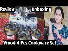 VINOD 4 Piece Cookware Set Review In A Hindi & Amazon Unboxing |vinod intelligent cookware - YouTube