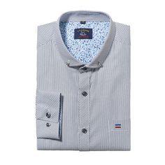 Stylish Slim Fit Blue Striped Shirt Men Long Sleeve Social Quality Men Dress Shirts Cotton