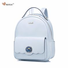 (58.04$)  Watch here - http://ai6si.worlditems.win/all/product.php?id=32794213927 - 2017 New NUCELLE Brand Design Fashion Dolphin Hardware PU Women Leather Ladies Girls Backpacks Shoulders School Travel Bags