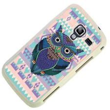 Aztec Tribal Owl Tattoo Cute SAMSUNG GALAXY ACE 2 I8160 Case/Back Cover-White