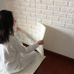 Buy Brick Pattern Wallpaper Bedroom Living Room Modern Wall Background TV Decor at Home - Design & Decor Shopping