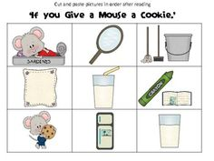 If you Give a Mouse a Cookie sequencing activity.