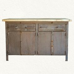 so gorgeous. iron and wood butcher block from terrain.