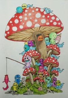 Doodle invasion by Kirby Rosanes...colored by Ellenetta Marshall