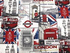 """""""Underground+London""""+Baumwollstoff++von+Kreativgesellschaft+auf+DaWanda.com"""