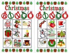 Christmas Bingo game - instant download. Perfect for preschoolers! Twenty unique bingo cards featuring 9 Christmas images on each card. Ideal for young kids who can't yet play the traditional bingo game. Includes 20 bingo cards, plus 2 bonus blank bingo cards, and an image print to cut out and draw from during the game.