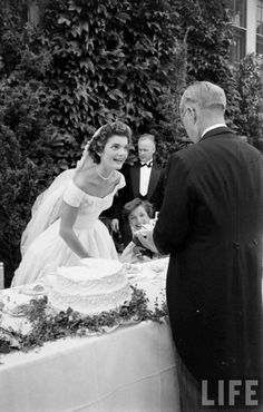 1953. 12 Septembre. Jacqueline with her father-in-law Joseph Kennedy on her…