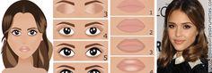 Comment se maquiller comme Jessica Alba : maquillage naturel et glamour pour yeux marron (en dessins)