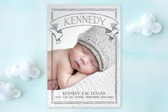 Banner Day Birth Announcements by Erin Deegan at minted.com
