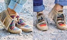 HOLY COW COUTURE COWGIRL'S online trend maven Allie Falcon reports nothing is quite as original as Holy Cow Couture's new line of fun and fringy moccasins. These handcrafted beauties have a Southwestern style and super comfy fit. What do you think?