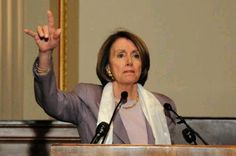 Nancy Pelosi with the devil horns sign. She claims to be a Christian. What kind of Christian? This will be the question we must ask from now on.