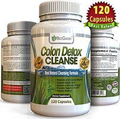 #1 Dual-Action COLON DETOX CLEANSE (120 Capsules) Best Ultimate Intensive Herbal Supplement Formula for Weight Loss Support   Total Cleansing Flushes Toxins & Eliminates Waste BioGanix http://www.amazon.com/dp/B00UT663LA/ref=cm_sw_r_pi_dp_MOT.wb044TTMZ
