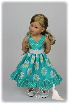 Dot Dress, Dress Skirt, Types Of Cotton Fabric, American Girl Dress, Vinyl Dolls, Cat Doll, Girls Dresses, Summer Dresses, Girl Doll Clothes