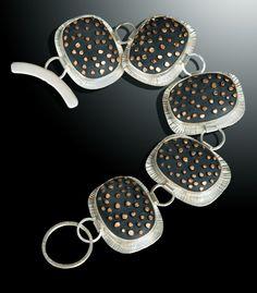 Grace Stokes - Coppery Spikes Bracelet