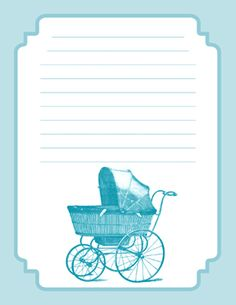 baby boy blue paper for gift list or any list need