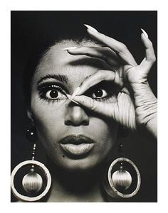 Charlotte March, Donyale Golden Earrings, 1966