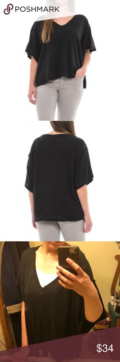 Last Chance! Free People My Boyfriend's Tee NWT NWT Free People My Boyfriend's black T-shirt size XS originally $58. Oversized fit (I normally wear a Small and this XS fit me great). Last 6 images of the actual available items for sale. Price FIRM on this particular item! Feel free to make any reasonable offers using the Offer button and plz don't haggle in the comments section. No trades. Free People Tops Tees - Short Sleeve