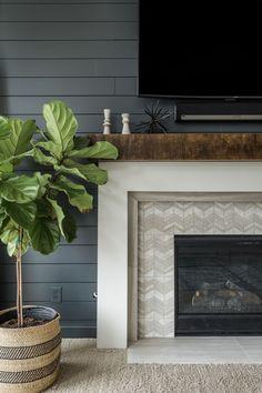 elegant fireplace makeover for farmhouse home decor. New blog post up .  #kitchendecorturquoise