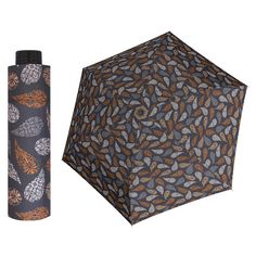 Doppler HAVANNA Sprinkle ultralehký skládací deštník s UV filtrem Barva Hnědá Women's Umbrellas, Ladies Umbrella, Sprinkles, Bloom, Design