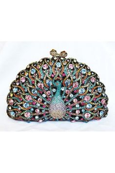 Judith Leiber Peacock Swarovski Crystal Evening Party Clutch. In case you ever go out as a peacock! LOL j.  Thank you I do think this Is wearing art, bling and style all in one....d