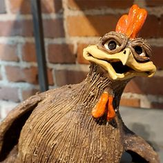 Christopher Park Gallery :: Pottery :: Mazi :: Mazi Character Chicken Sitting CP633 SOLD