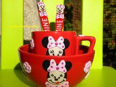 polymer Cutlery, Polymer Clay, Ceramics, Mugs, Tableware, Handmade, Ceramica, Pottery, Dinnerware