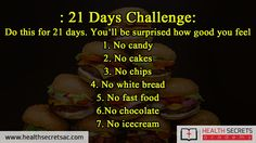 21 Days Challenge For A Better Body
