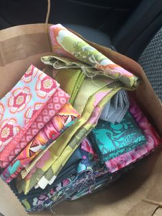 """New fabrics and a few from the stash from the lovely new quilt shop in Eltham """"The Quilt Shop"""""""
