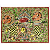 Madhubani painting, 'Durga's Marriage'