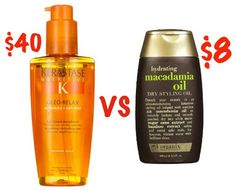 Organix Macadamia Dry Styling Oil instead of Kerastase Nutritive Serum Ole Relax