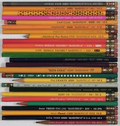 Typology of Mallard brand pencils. Fred's pencil collection.