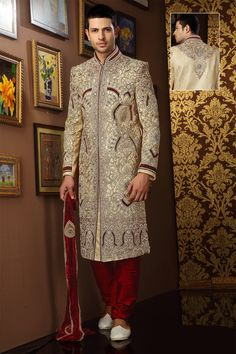 Wedding season is here and its all about getting your hands on this season's best. Check our exclusive range of Grooms Sherwani at Nihalfashions.com