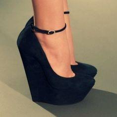 unique black heels... love x 2.