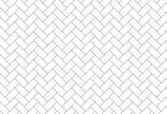 Metro tiles in herringbone pattern
