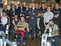 Prince Harry continues his string of public appearances by visiting wounded ex-servicemen who have rowed across the Atlantic Ocean at the River & Rowing Museum in Oxfordshire, England.  http://www.people.com/people/gallery/0,,20795873,00.html#30117993