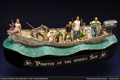 """Diorama """"Pirates of the Somali Sea"""" (1:35), by Stefan Beck"""