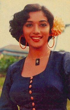 Thing 1, Madhuri Dixit, Retro Vintage, Bollywood, Hoop Earrings, Album, Face, Beauty, Beautiful
